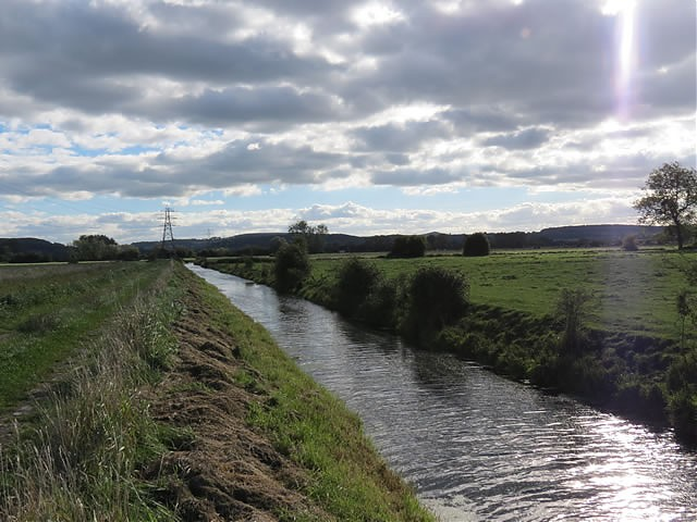 Flowing through Puxton Moor