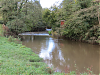 Looking upstream to Tytherleigh Weir