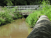 Upstream face of West Lydford Bridge over King o Mill stream