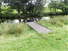 Fishing platform downstream from Brushford Bridge